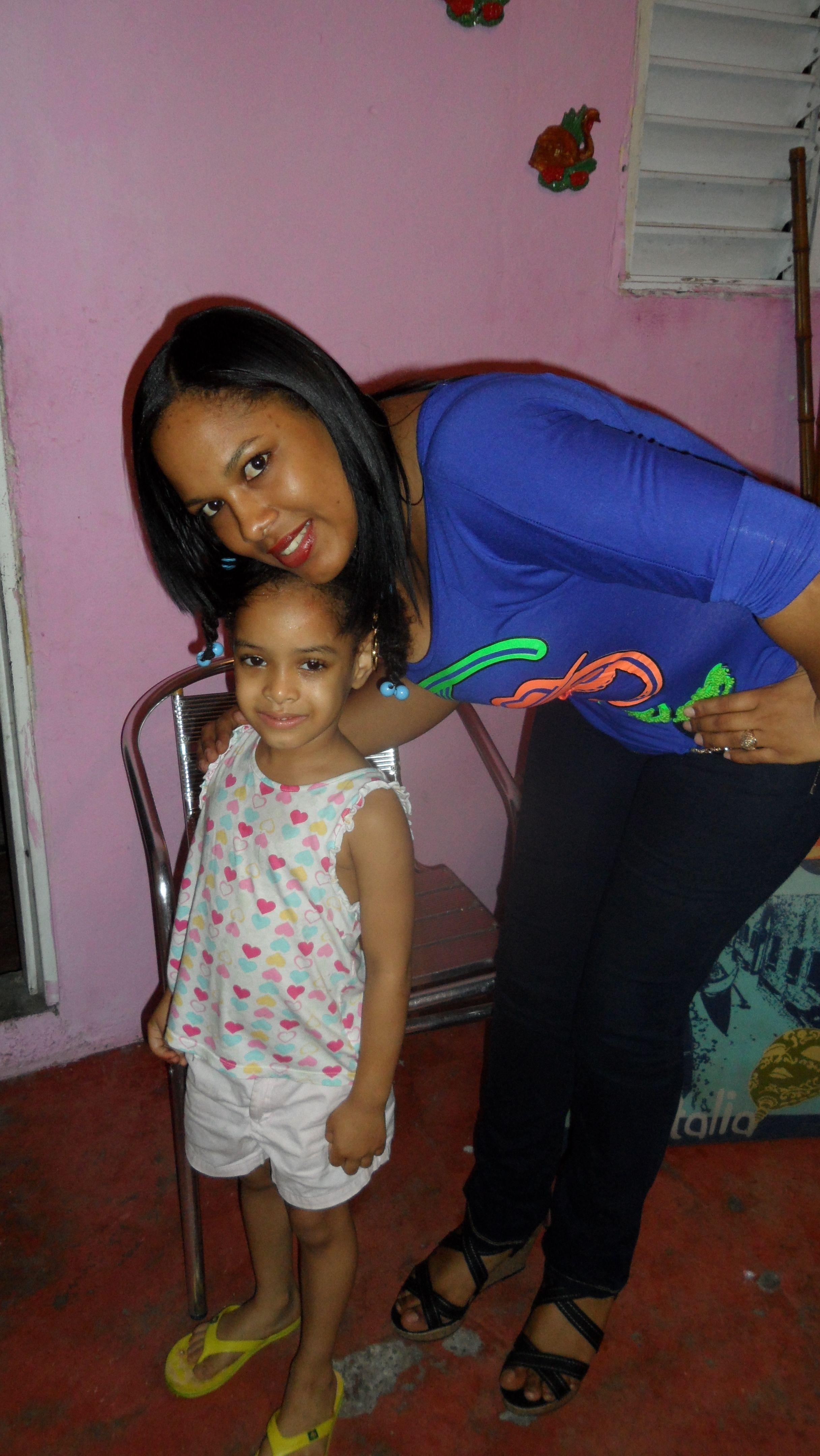 El amor de mi sobrina Raysa y yo.