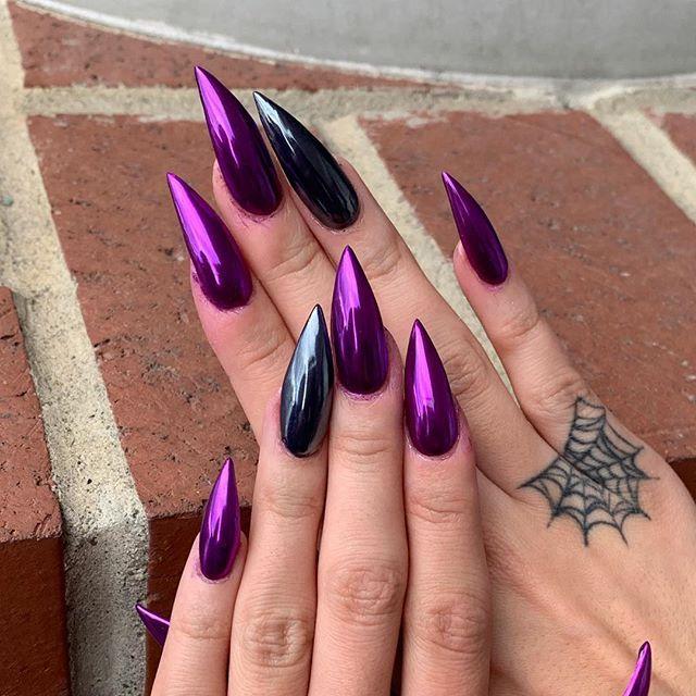 Pin by 🦋. 𝒥𝑒𝓈𝓈𝒾𝒸𝒶 .🦋 on и α ι ℓ ѕ | Stiletto nails designs ...