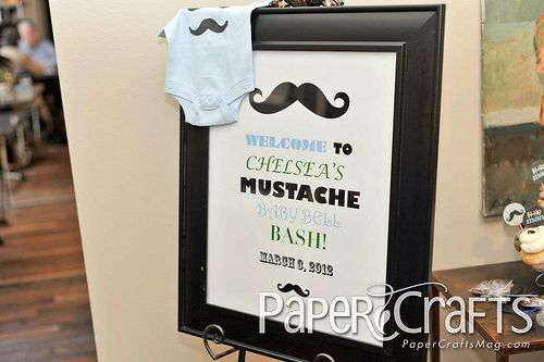 Mustache Baby Shower Decorations | Mustache Baby Bash! | Paper Crafts  Connection