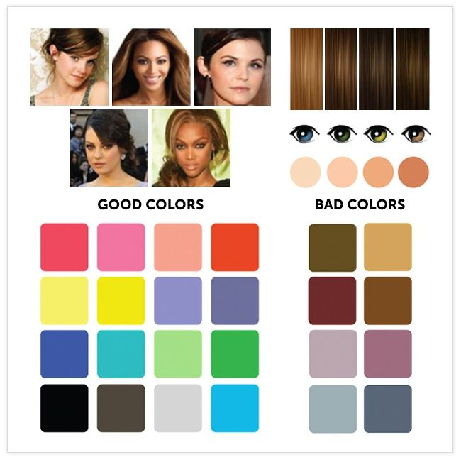 12 Great Color Combinations For Your Complexion Color Pinterest