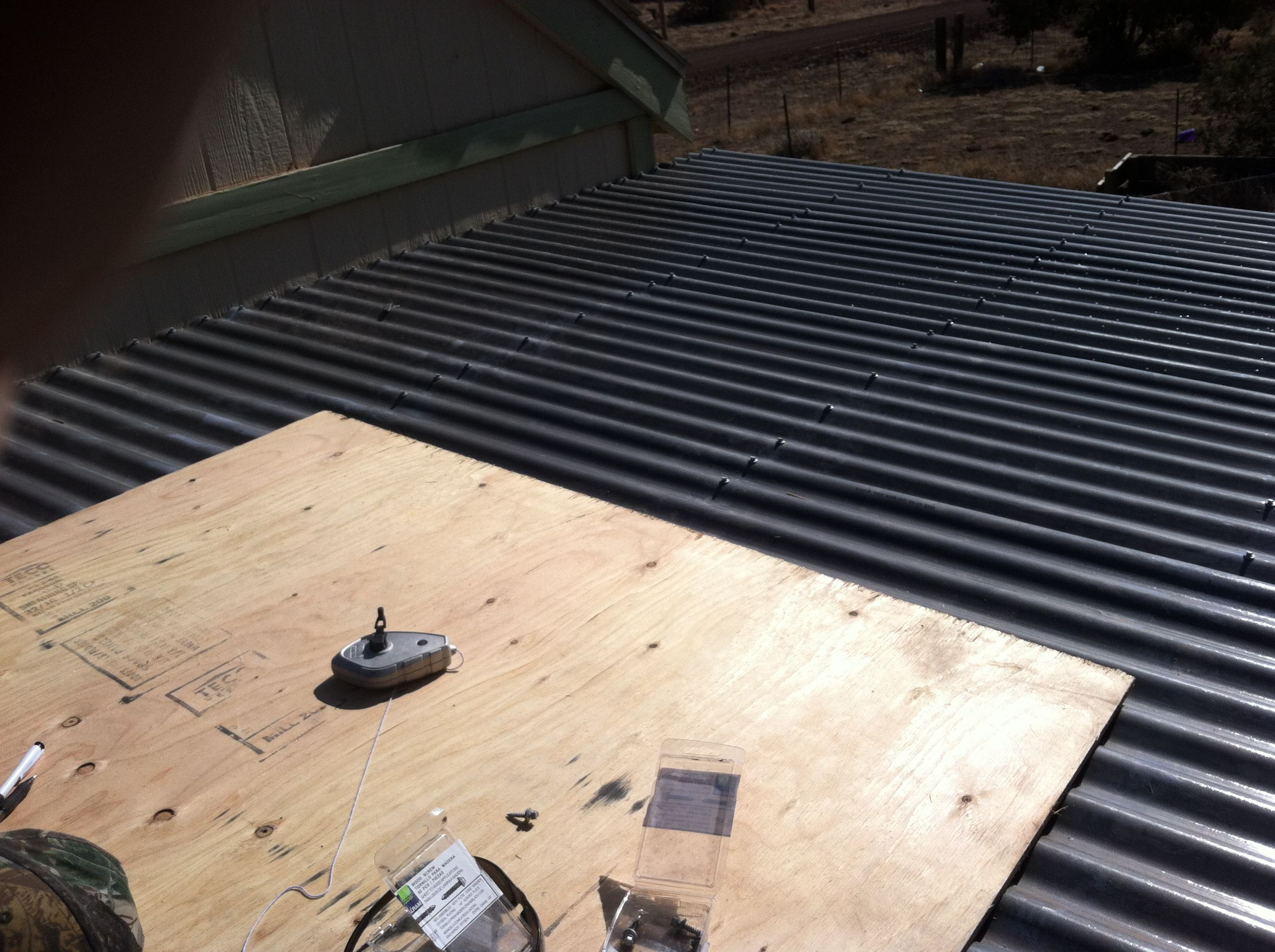 Polycarbonate Roof Panels Installed This Is Really My Only Cost On This Project 100 Bucks Polycarbonate Roof Panels Roof Panels Diy Chicken Coop