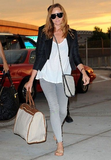 Stella McCartney at the airport.