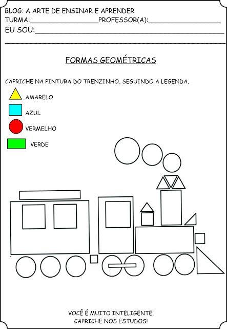 Atividades Com Formas Geometricas Formas Geometricas Educacao