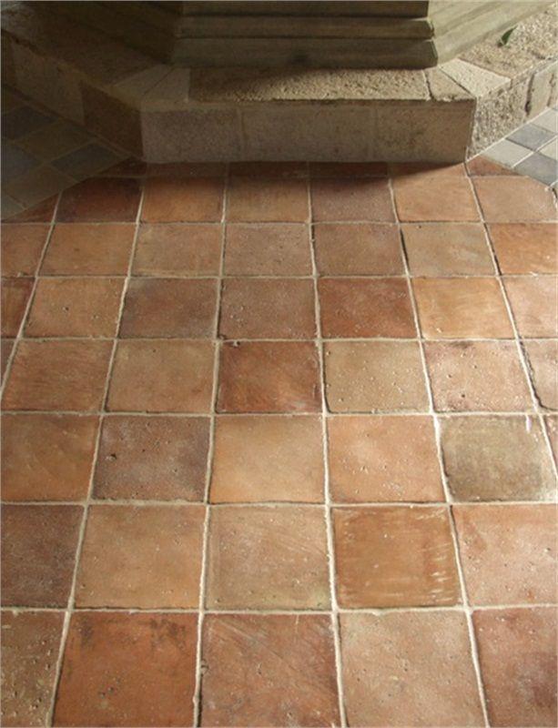 Antique Square Terra Cotta Tiles In Traditional Colors