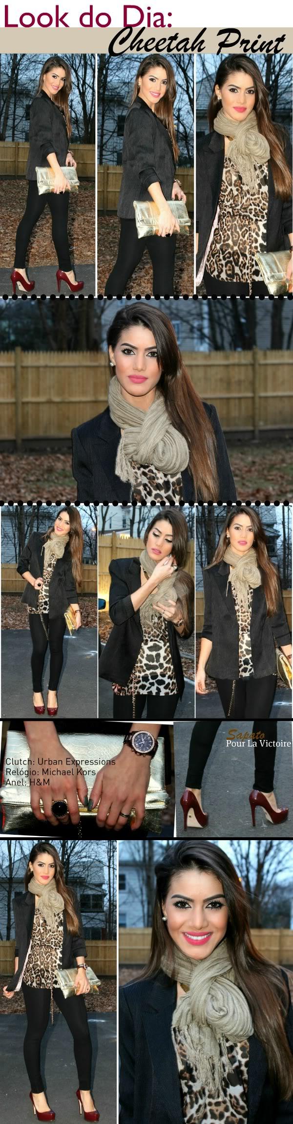 cheetah print look