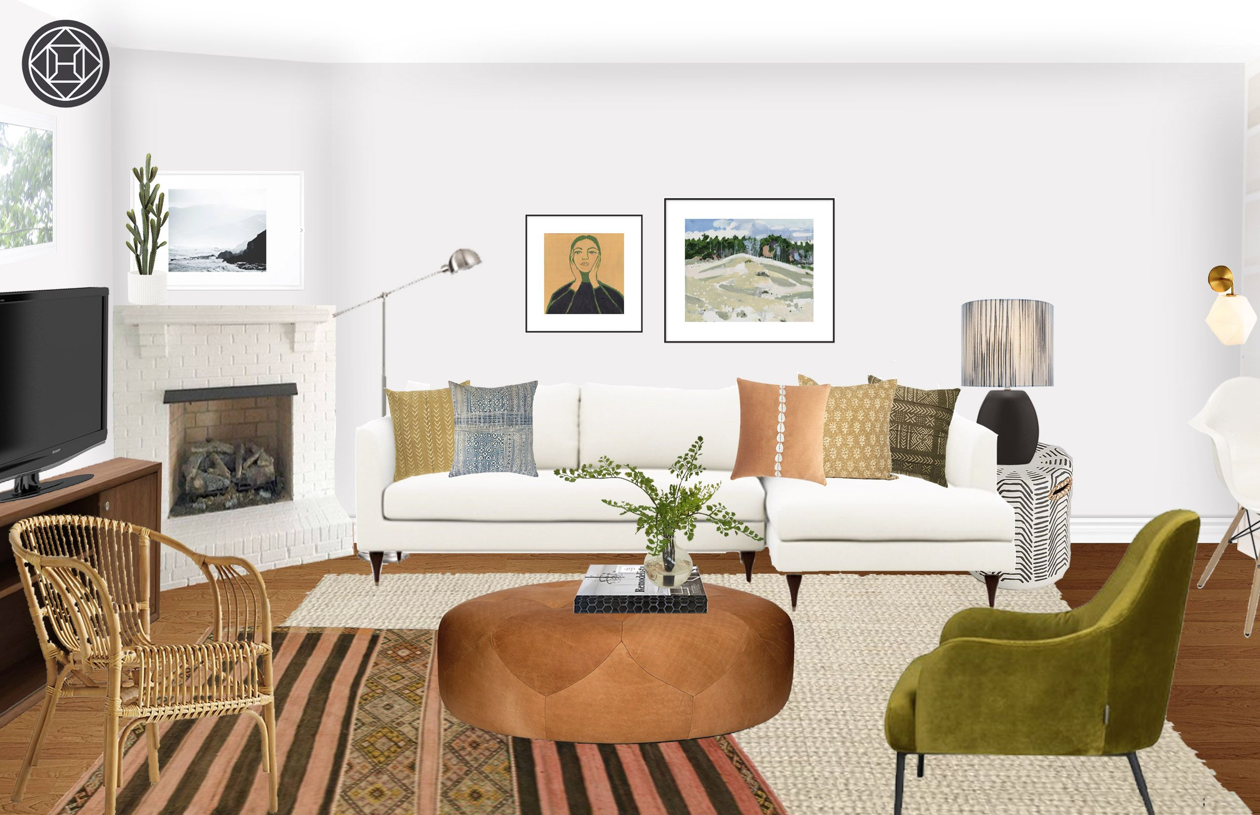 Eclectic Bohemian Global Living Room Design By Havenly Inte