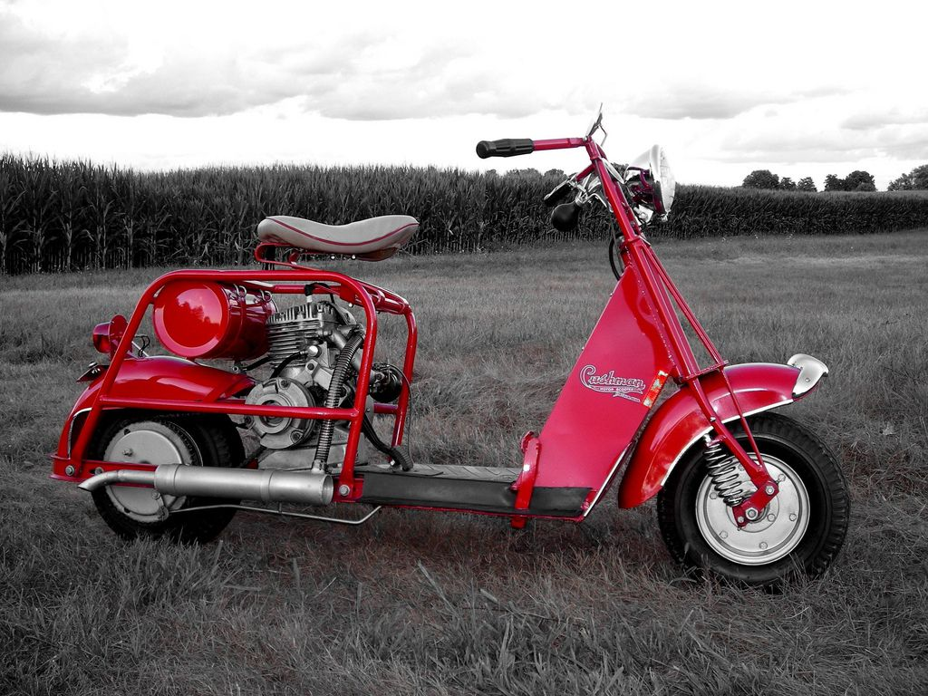 Cushman In Red Scooters Cars Motorcycles Mini Bike