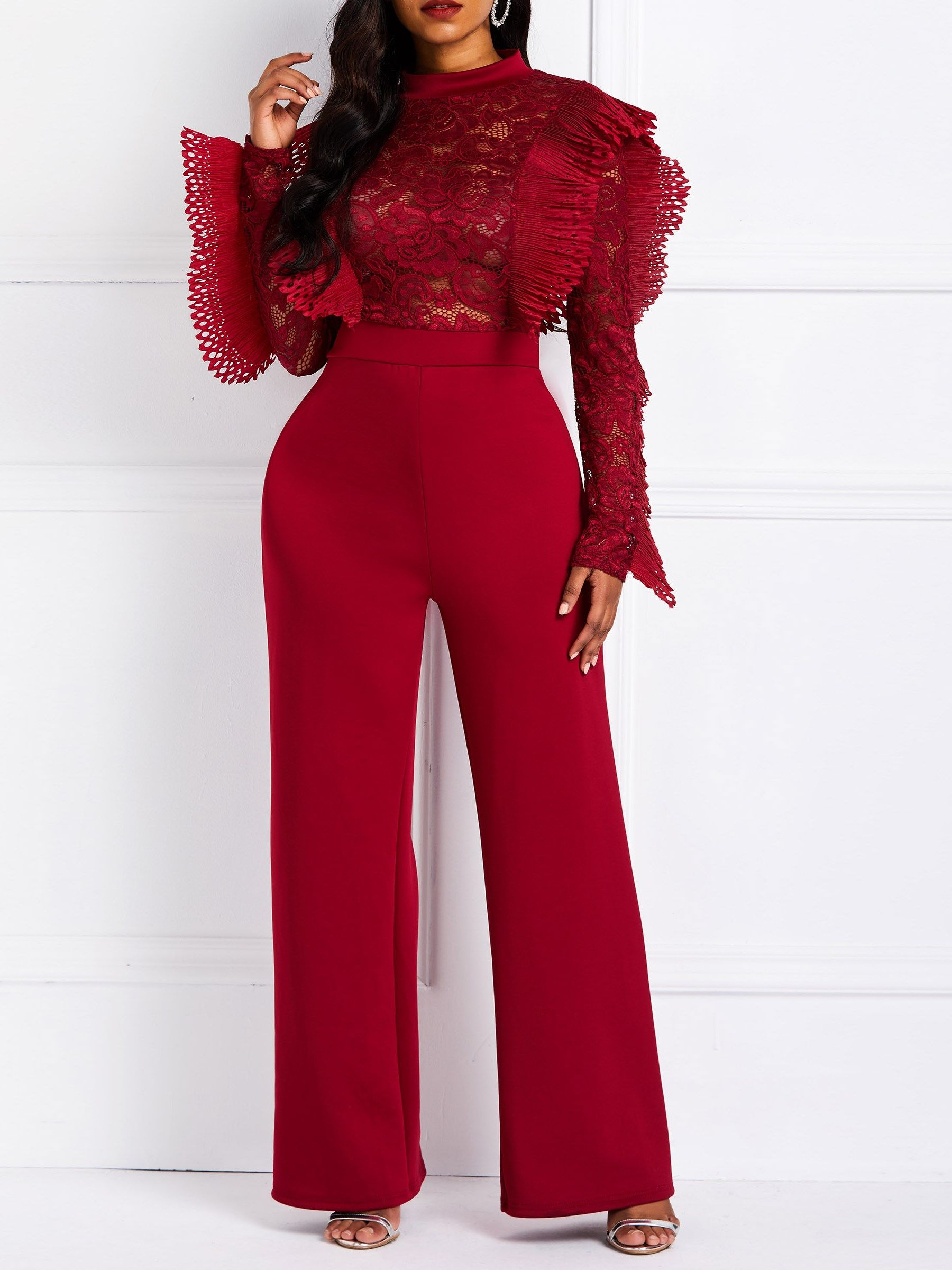 b2b54ccd1867 Casual Full Length Plain Straight High-Waist Jumpsuits Casual Full Length  Plain Straight High-Waist Jumpsuits Casual Full Length Plain Straight  High-Waist ...