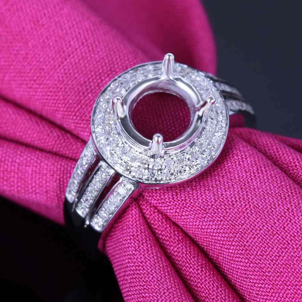 Fine Jewelry Round 7.5mm Diamond Semi Mount Wedding Ring Setting ...
