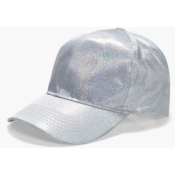 a661551728027 Boohoo Freya Holographic Baseball Cap ( 8) ❤ liked on Polyvore featuring  accessories