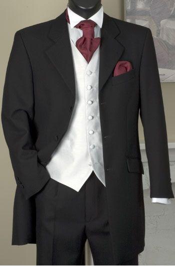 Mens Three Piece Navy Prince Edward Jacket Trouser and Ivory Waistcoat
