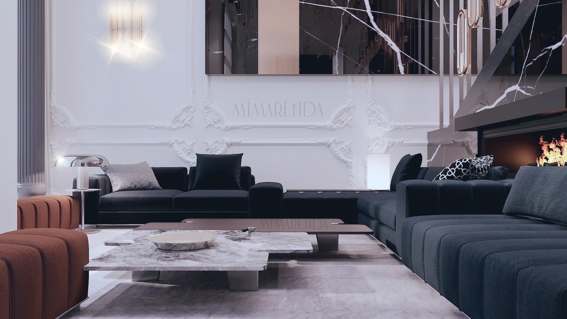 Mekanda tevazu, sadelik ve bunlardan kaynaklı huzur vaat eden Mimarenda Tasarım Stüdyosunun yalın ama parıltılı düeti... Modern detaylar minimal düzenlemelerle karşınıza çıkarken, ışıltılı lüks dokunuşların sakin ama şık kompozisyonu..#interiordesign #interior #salon #luxurylifestyle #salontasarımı #home  #homedecor #evdekorasyonu #architect #mimar #design #tasarım#mobilyatasarımı #mobilya #oturmaodasi #duvar #duvartasarımı  #dekorasyon #decorations #bursa #içmimar #bursamimar #bursaiçmimar