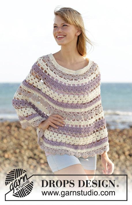 Crochet poncho wool, crochet top, crochet cape. Handmade, CHOOSE ...