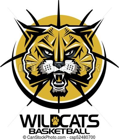 vector wildcats basketball stock illustration royalty free rh pinterest com wildcat clipart wildcat clipart free