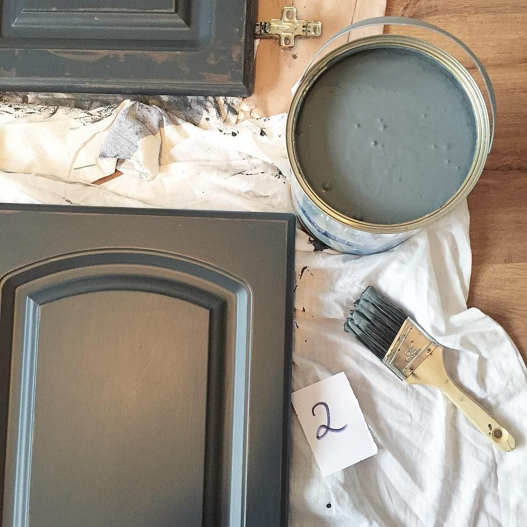 Valspar Gray Shingle Painted Kitchen Cabinets Grey Painted Kitchen Kitchen Paint Painting Kitchen Cabinets