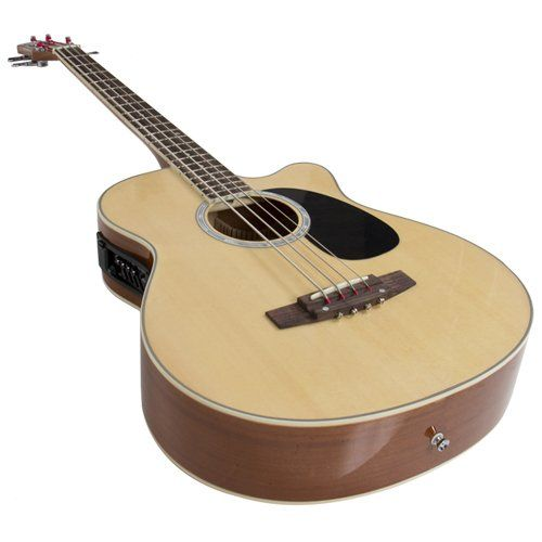 Electric Acoustic Bass Guitar Natural Solid Wood Construction With Equalizer New Acoustic Bass Guitar Guitar Bass Guitar