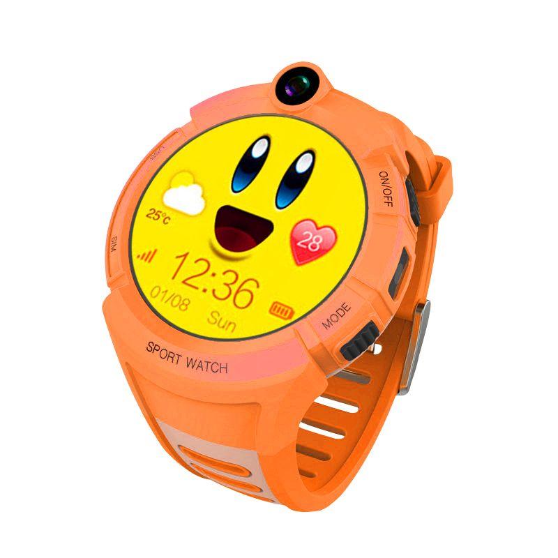 design senza tempo nuova alta qualità a buon mercato Q360 Orange Kids Smart Watches with Camera-GPS Location Child ...