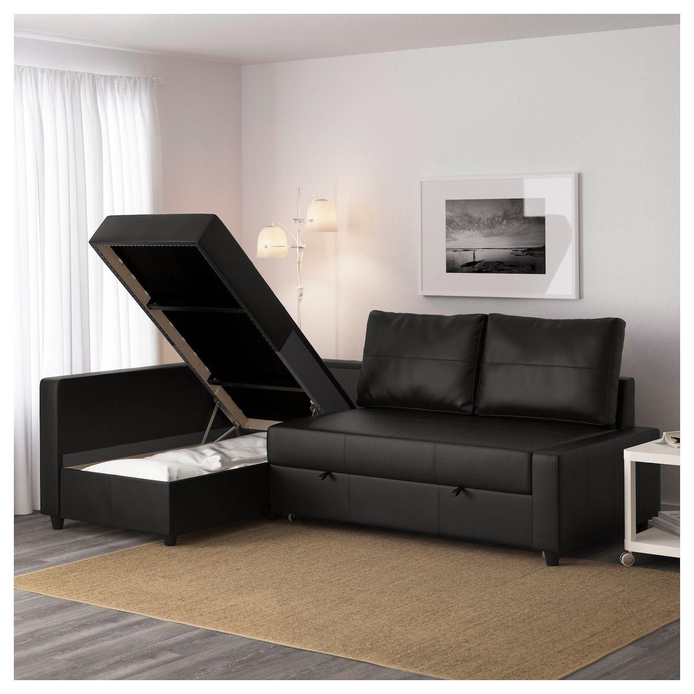 Friheten Sleeper Sectional 3 Seat W Storage Skiftebo Dark Gray Ikea In 2020 Corner Sofa Bed With Storage Sofa Bed With Chaise Corner Sofa With Storage