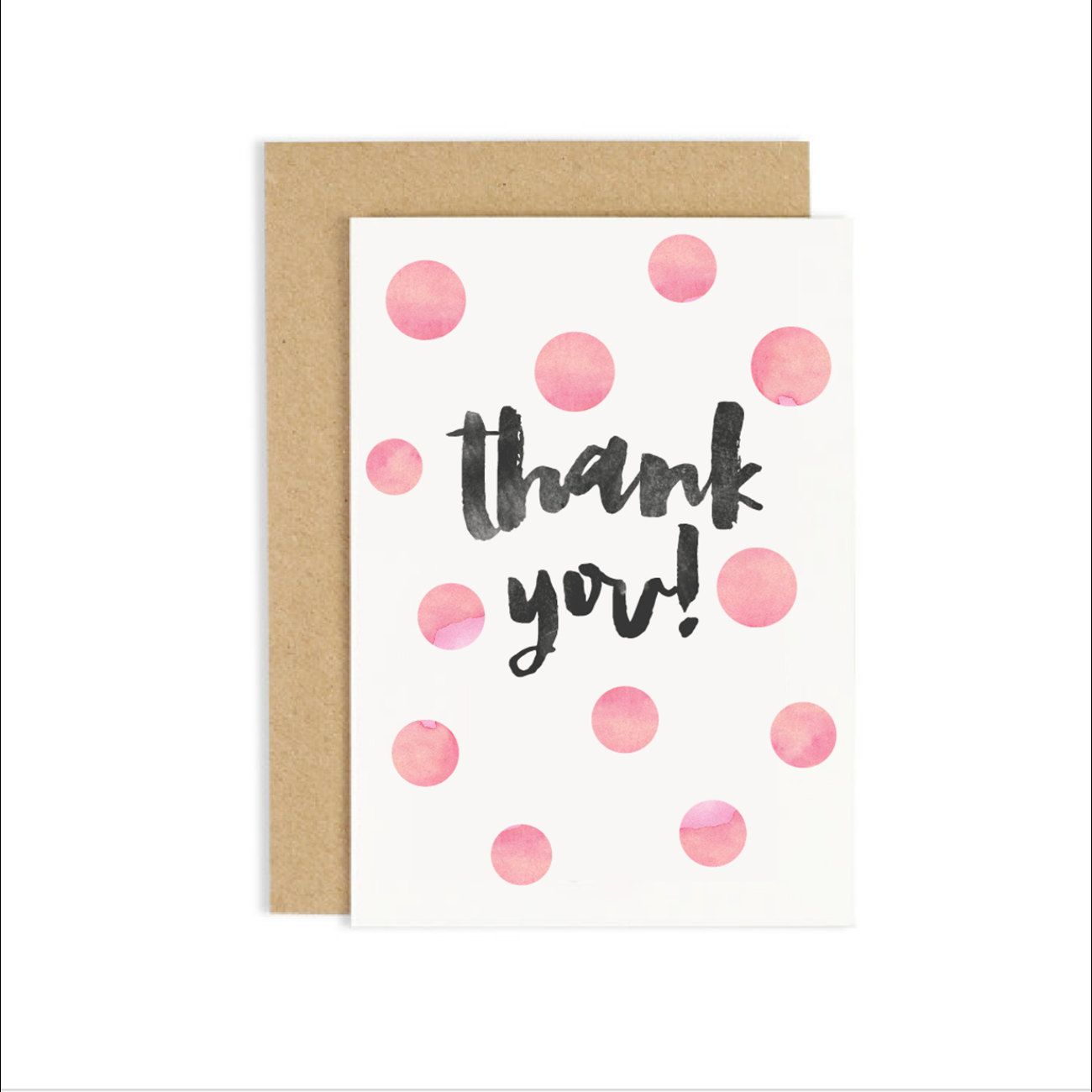 Thank You Card Thanks Card 100 Recycled Materials By