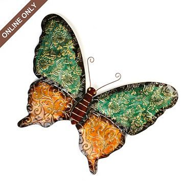 Butterfly Wall Hanging...look cute hanging on a fence by the pool.
