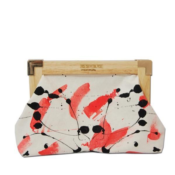 Uniqueful bright wood clutch by Assemblage