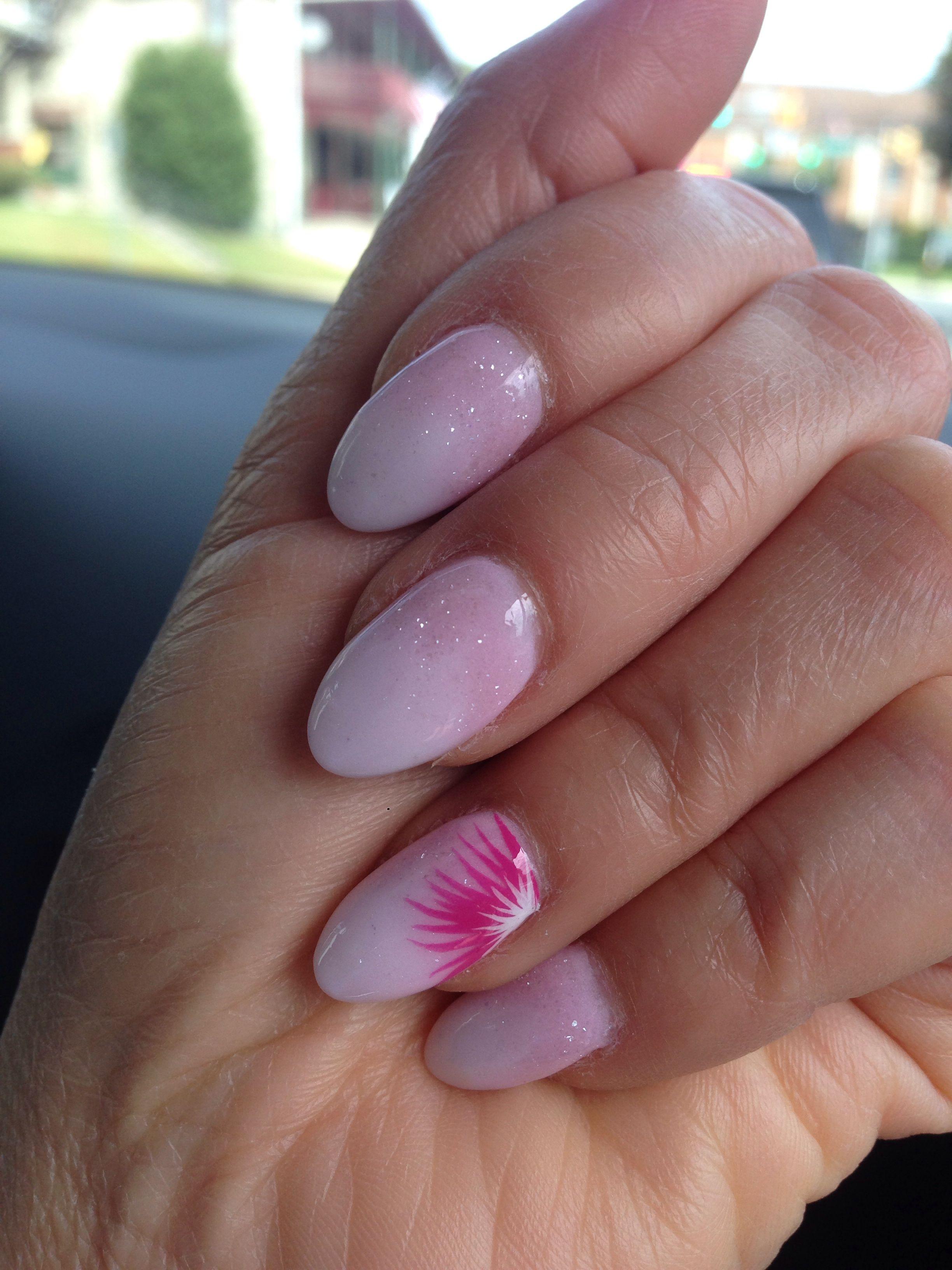 Beautiful Ombre With Dipping Powder On Natural Nails Natural Nails Nail Colors Nails