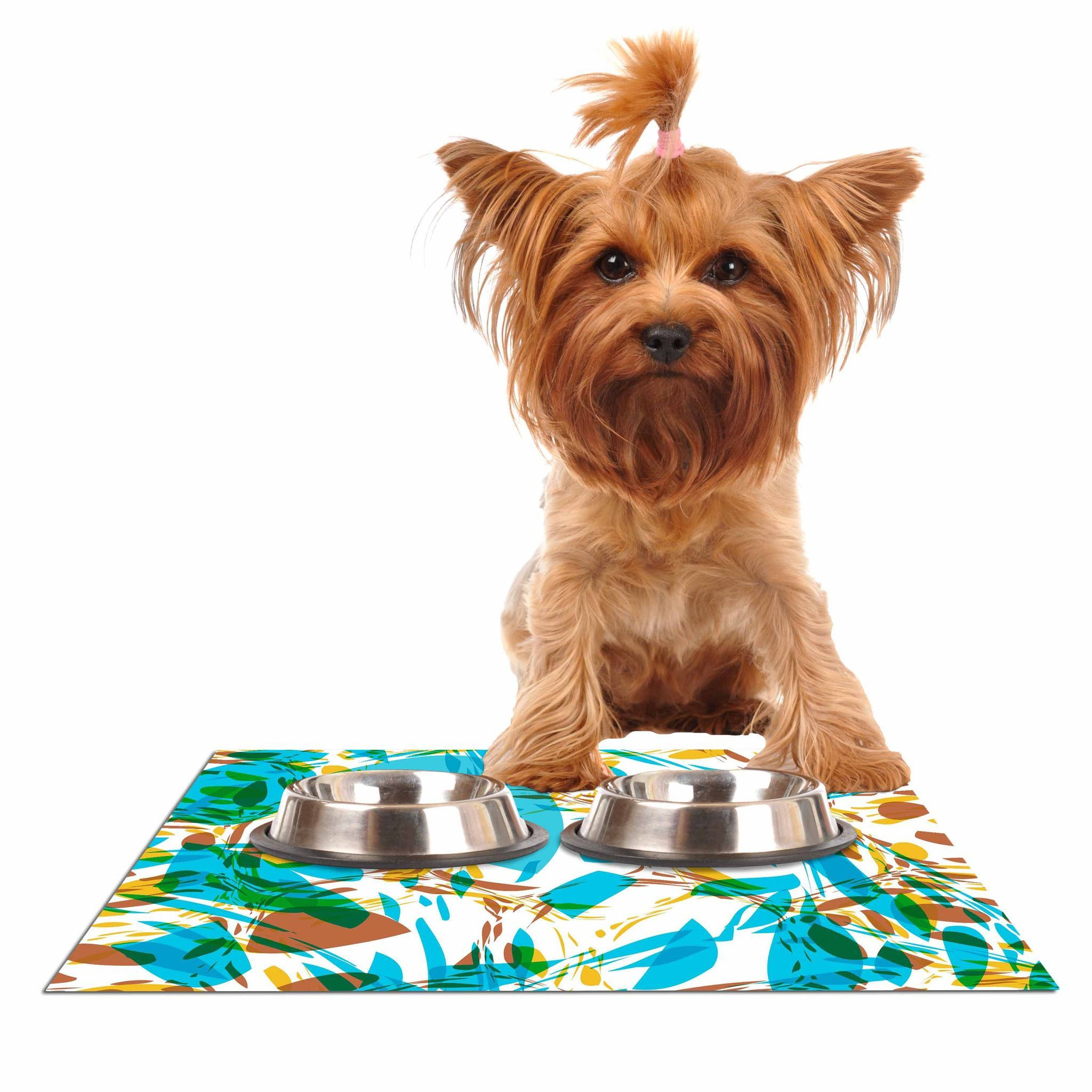 cat dog placemat personalized polk pet custom food mats dots wood mat polka