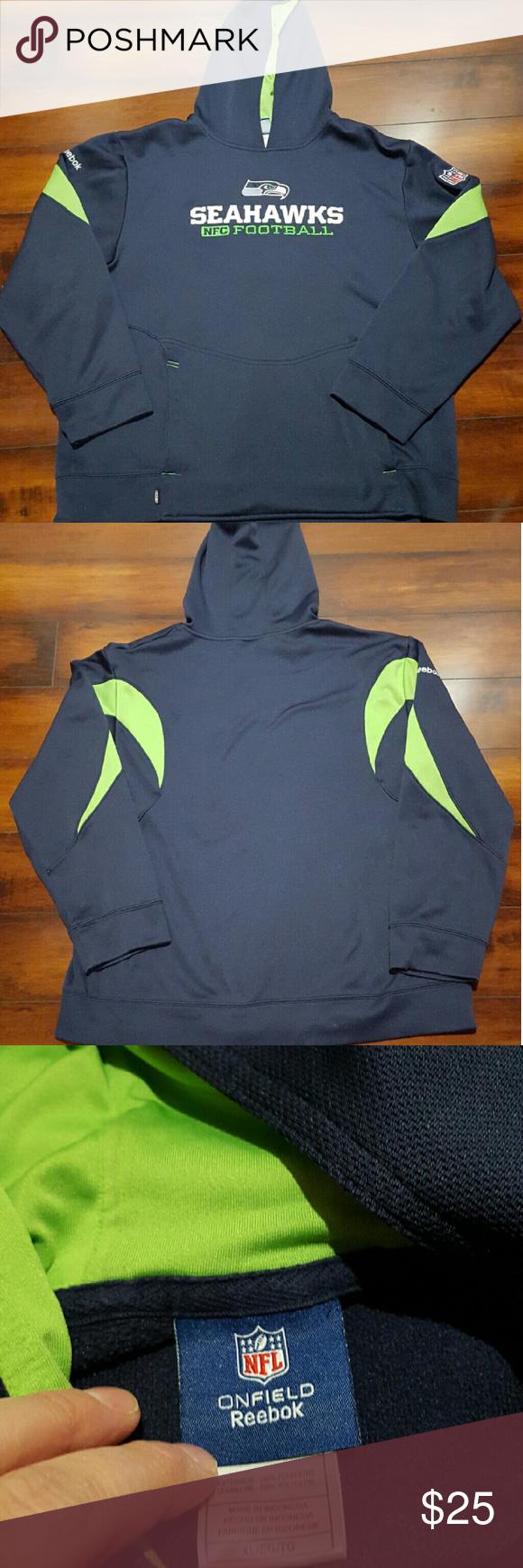 best service 41bb3 8df63 Men's NFL Reebok Seattle Seahawks hoodie, XL Men's navy blue ...