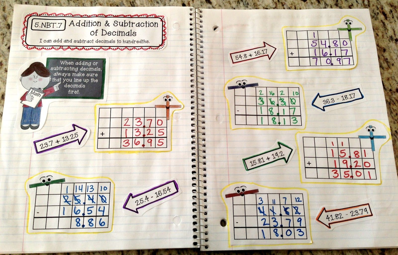 Create●Teach●Share: FINALLY: 5th Grade Interactive Math Notebooks!!!