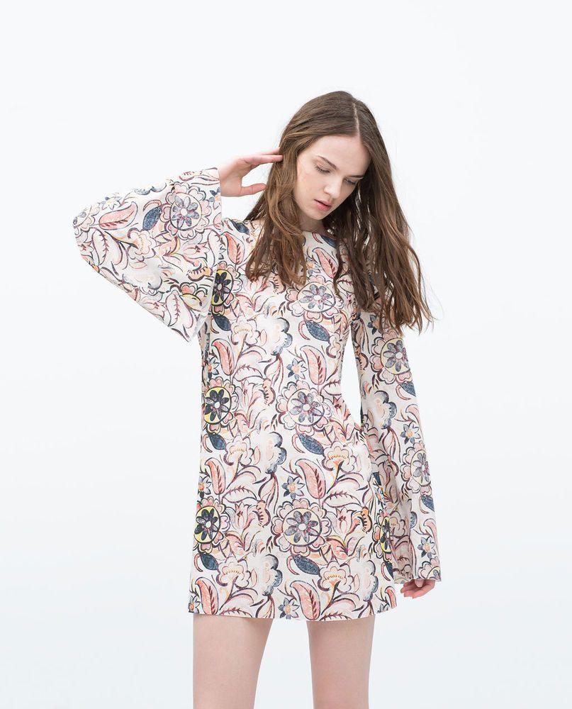 d4361fde7cb ZARA WOMAN DRESS WITH LOW-CUT BACK FLARED SLEEVES 5580/061 NEW SEASON SS15  2015 #ZARA #DRESSWITHLOWCUTBACK