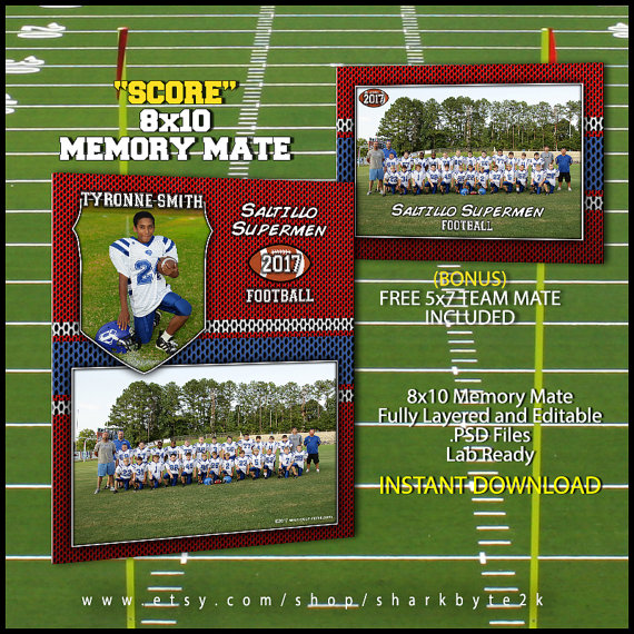 Football Sports Memory Mate Template For Photoshop by Sharkbyte2k ...