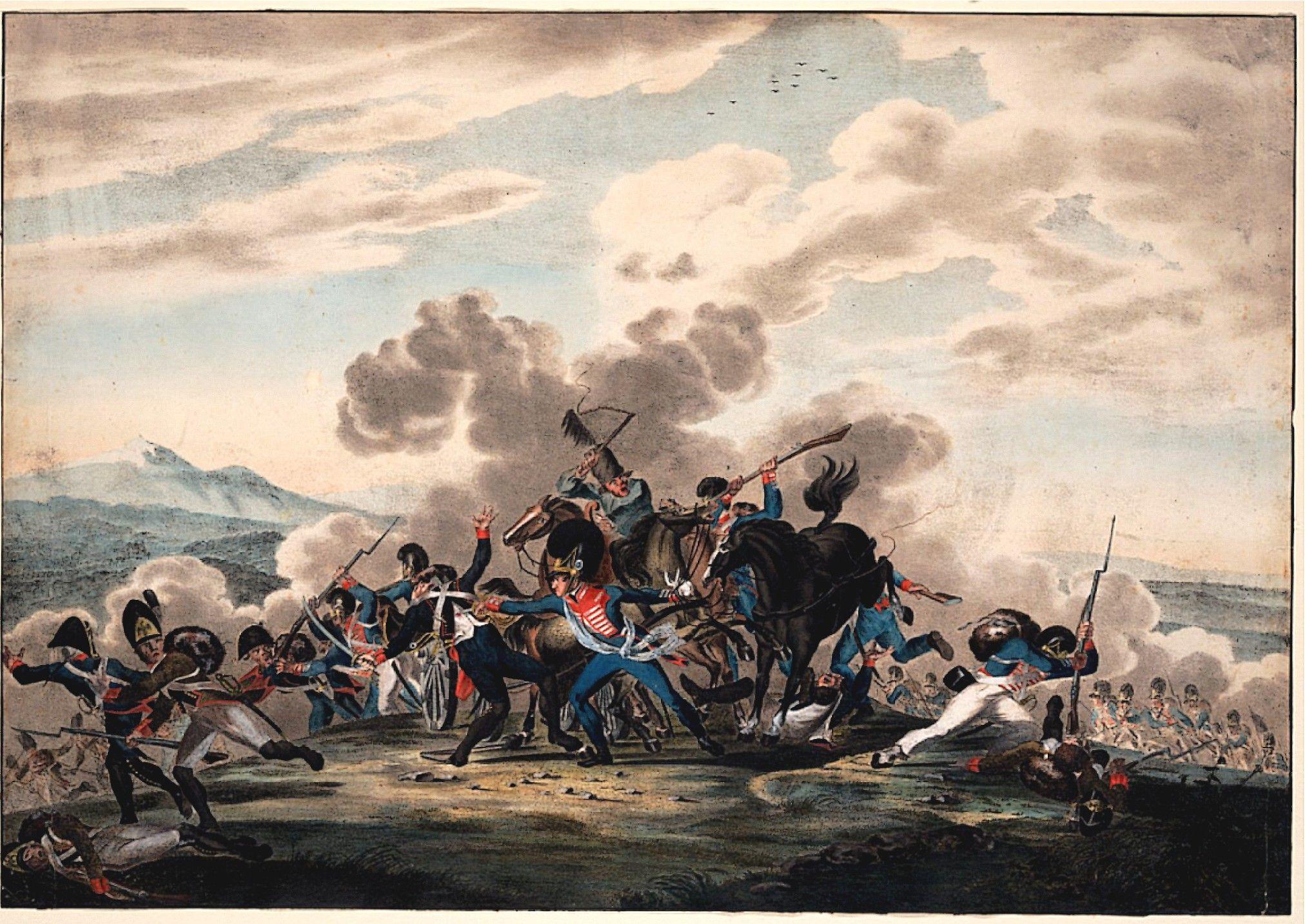 Bavarian King's regiment in battle- 1807