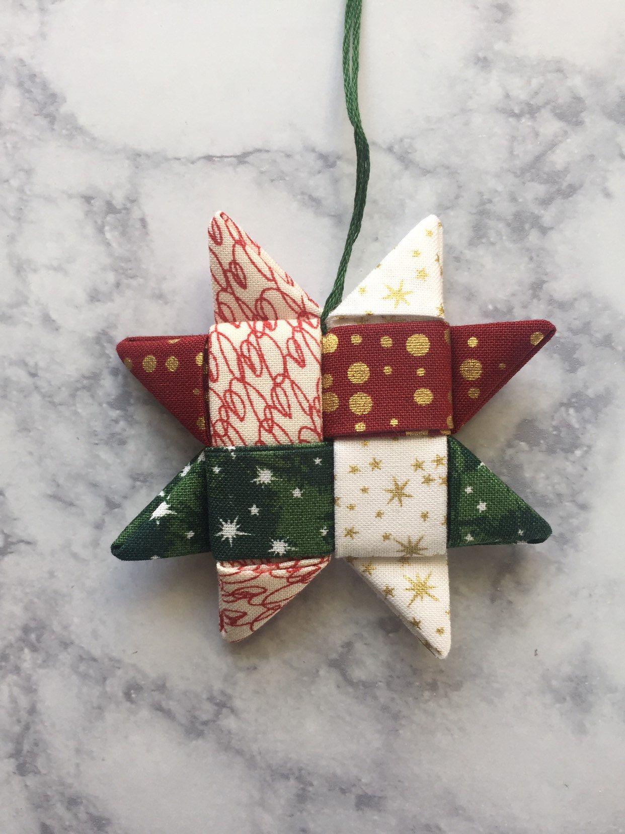 Folded star christmas ornament / origami star ornament ...