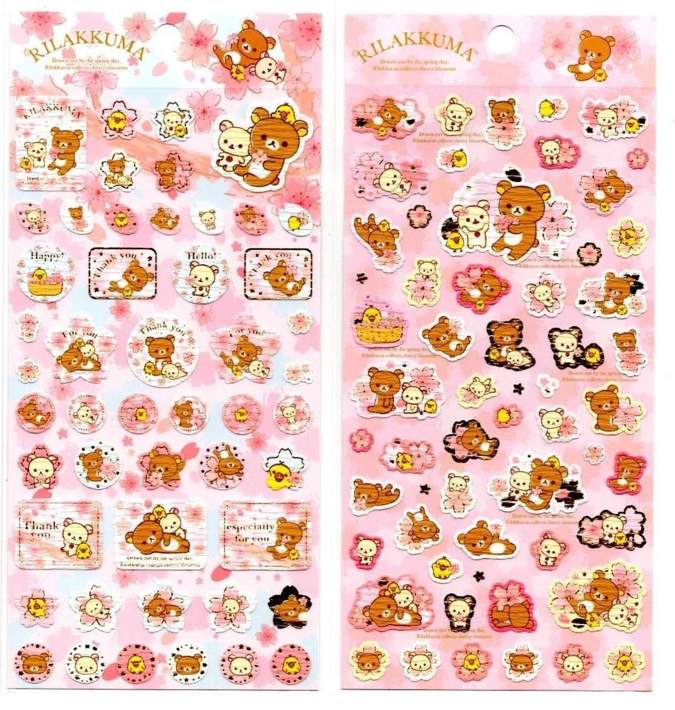 San-x Sentimental Circus Seal Stickers Sticker Sheet LOT Kawaii Japan C