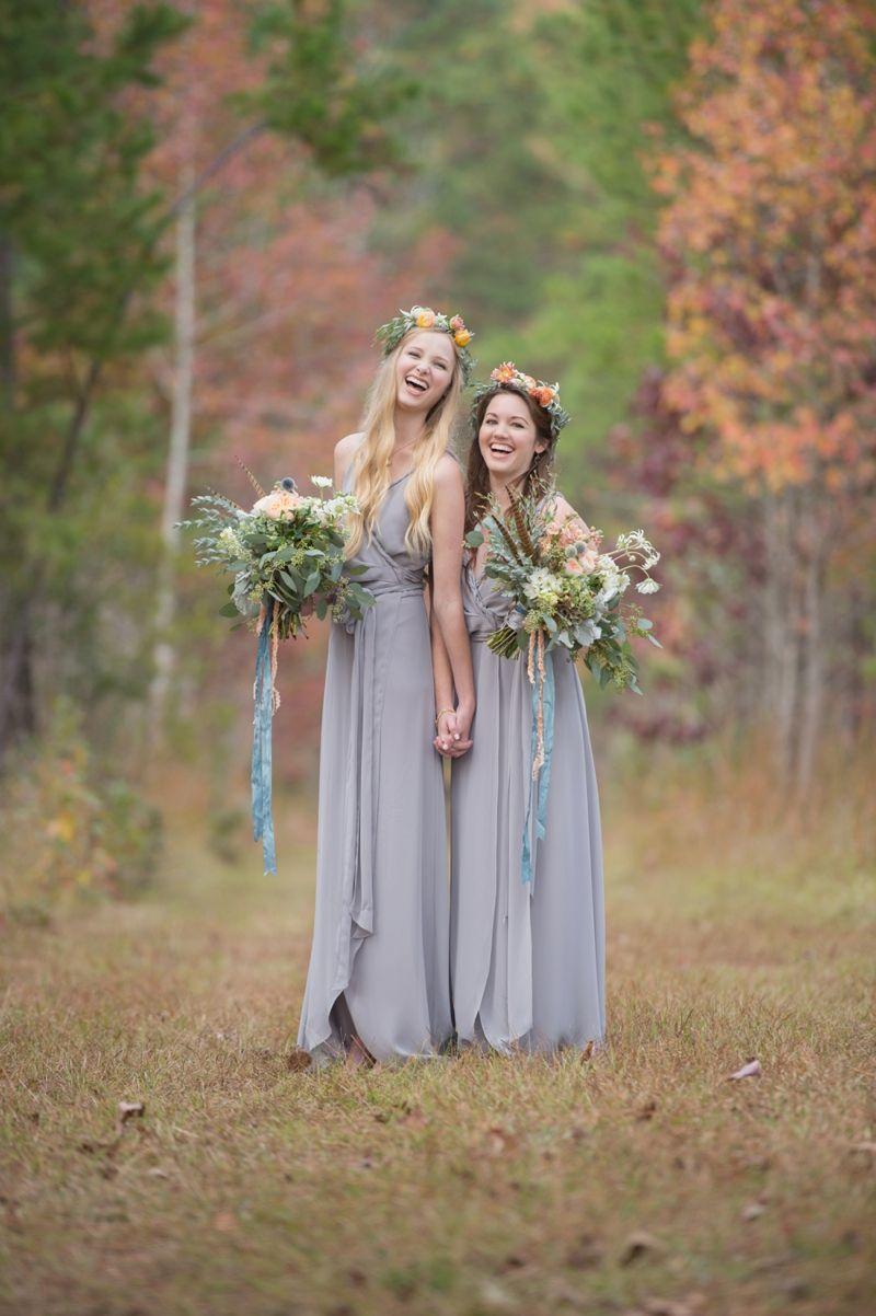 Bridesmaids laughing heather durham photography hunting lodge heather durham photography hunting lodge wedding styled shoot at sawtooth plantation bridesmaids dress ceremony by joanna august from bella bridesmaids ombrellifo Choice Image