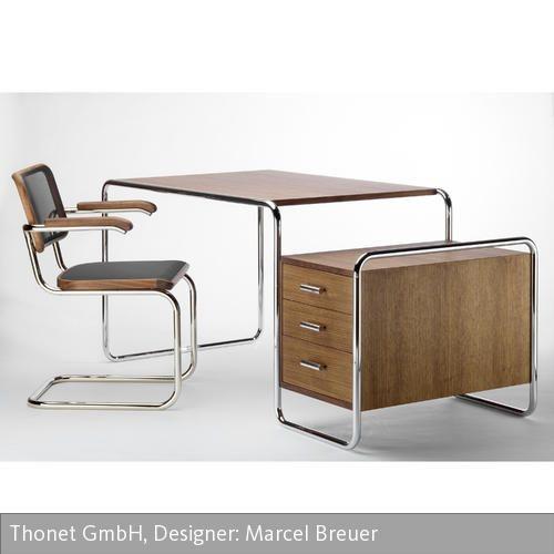 Holz Le Design s 285 schreibtisch bauhaus and interiors