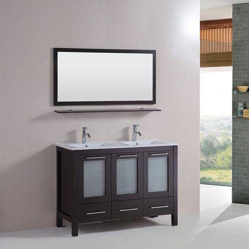 "Found it at Wayfair - 48"" Double Bathroom Vanity Set with Mirror"