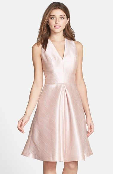 Alfred Sung V-Neck Dupioni Cocktail Dress available at # ...