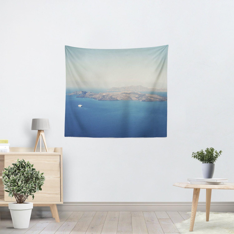 Santorini Caldera Tapestry