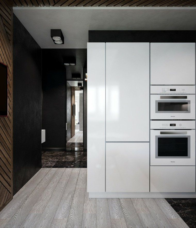 Aménagement petit appartement  trois intérieurs modernes Mixers