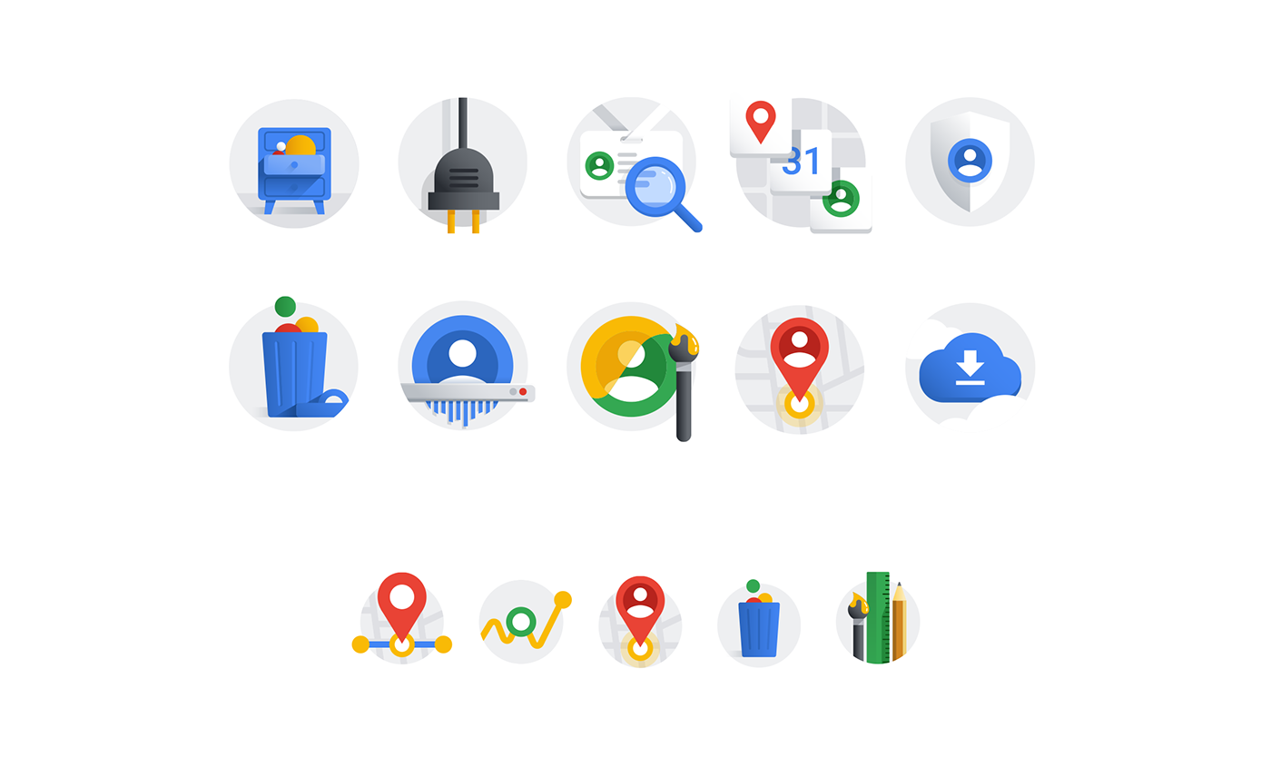 Google Account Illustrations On Behance Icon Design Google Icons Google Account
