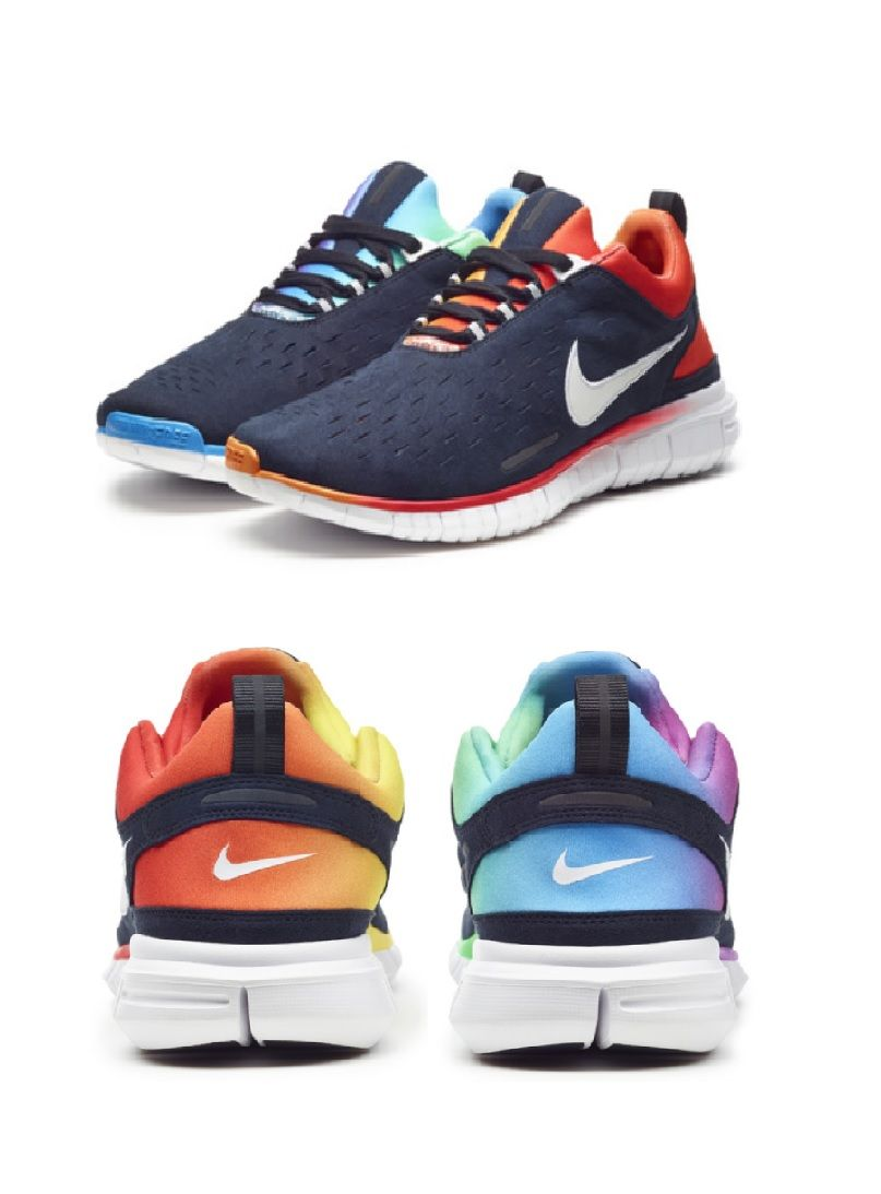 b912b04c576277 Nike Free Run OG  BETRUE 2014 --- The LGBT community has my full support  and I love these as well!!!