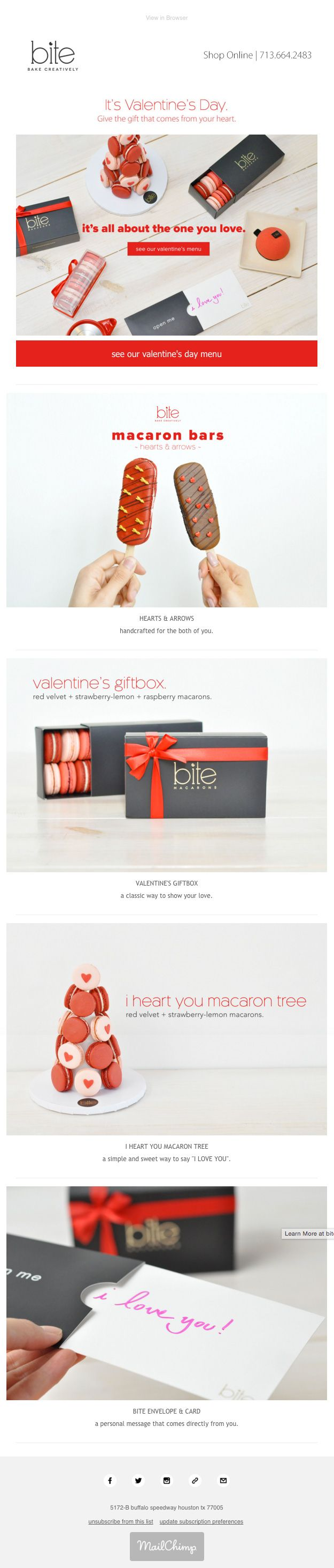 Bite Bake Creatively Newsletter Ideas Example #email #emailmarketing