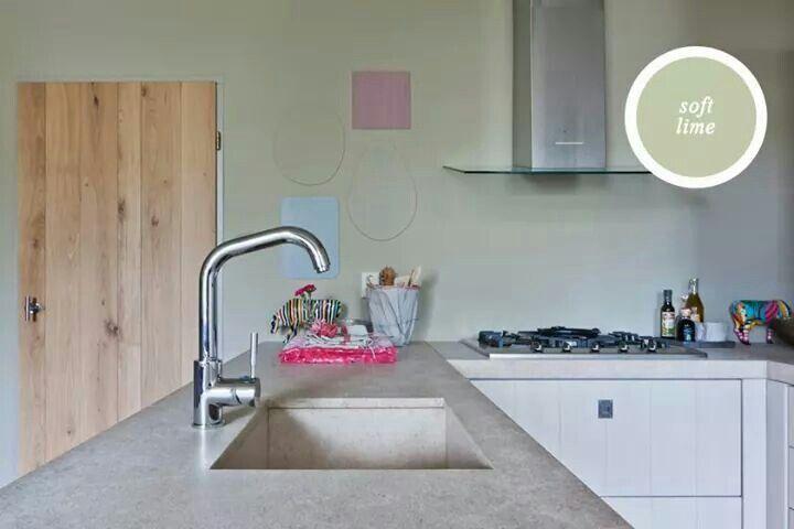 Keuken zachtgroen