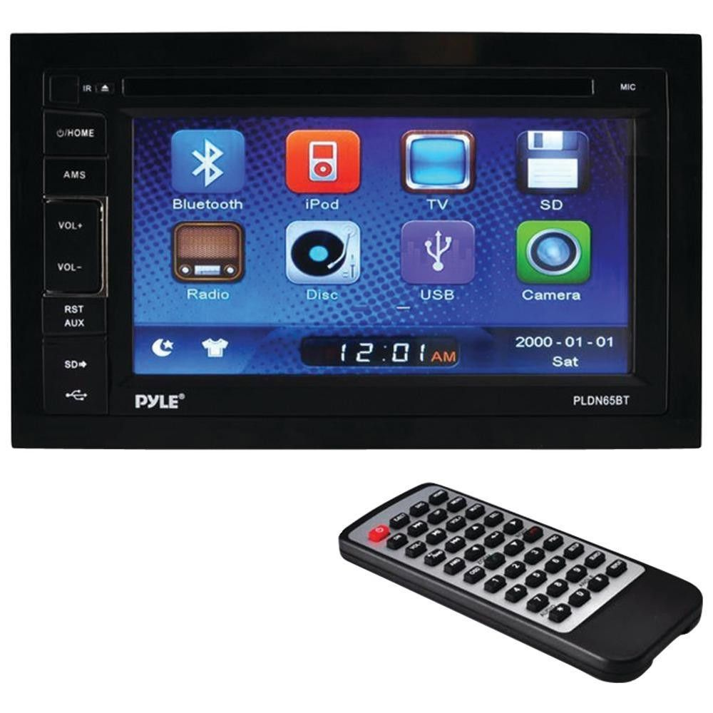 PYLE PLDN65BT 6.5 Double-DIN In-Dash LCD Touchscreen DVD Receiver with Bluetooth(R) & USB-SD(TM) Card Inputs