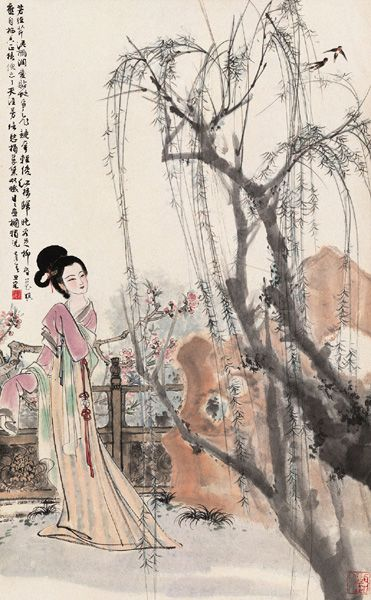 Pretty Chinese Mural Artwork