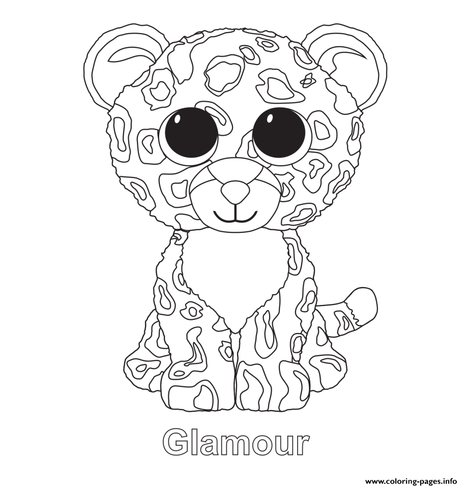 ty beanie babies coloring pages - print glamour beanie boo coloring pages kids crafts