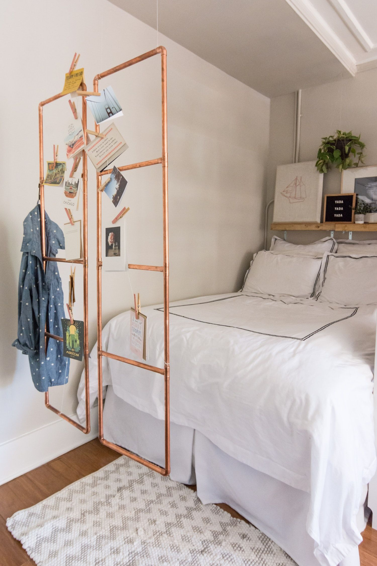How To Make a Clever Easy DIY Copper Room Divider Pinterest