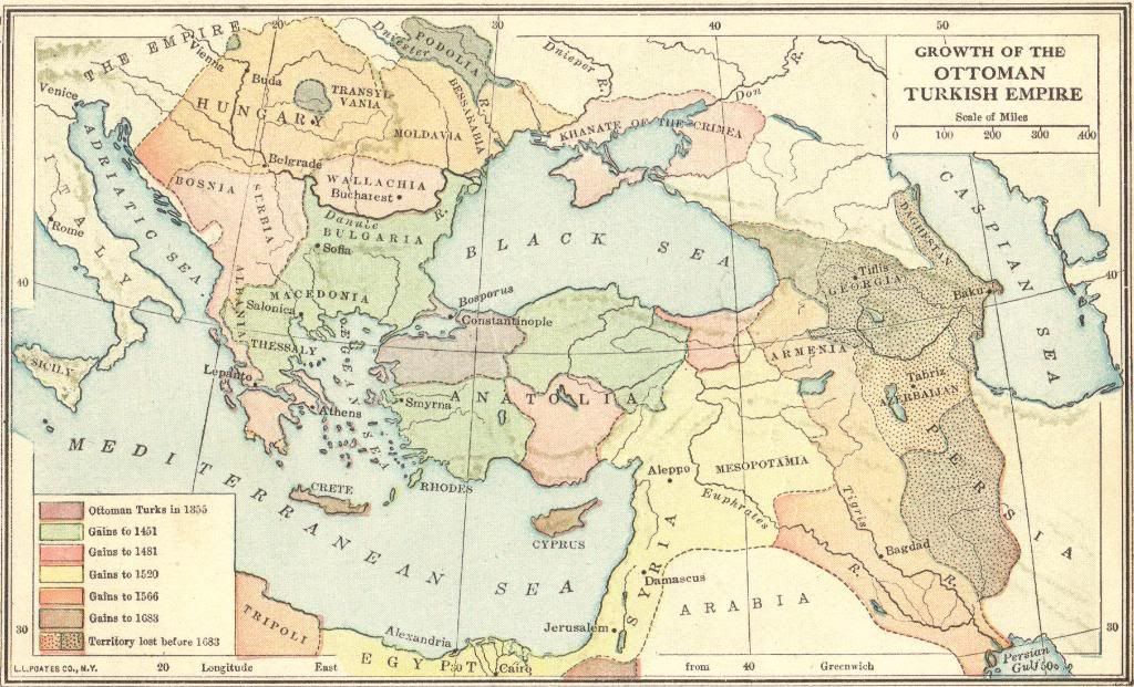 Map of the growth of the ottoman turkish empire 1355 1683 map of the growth of the ottoman turkish empire 1355 1683 gumiabroncs Images