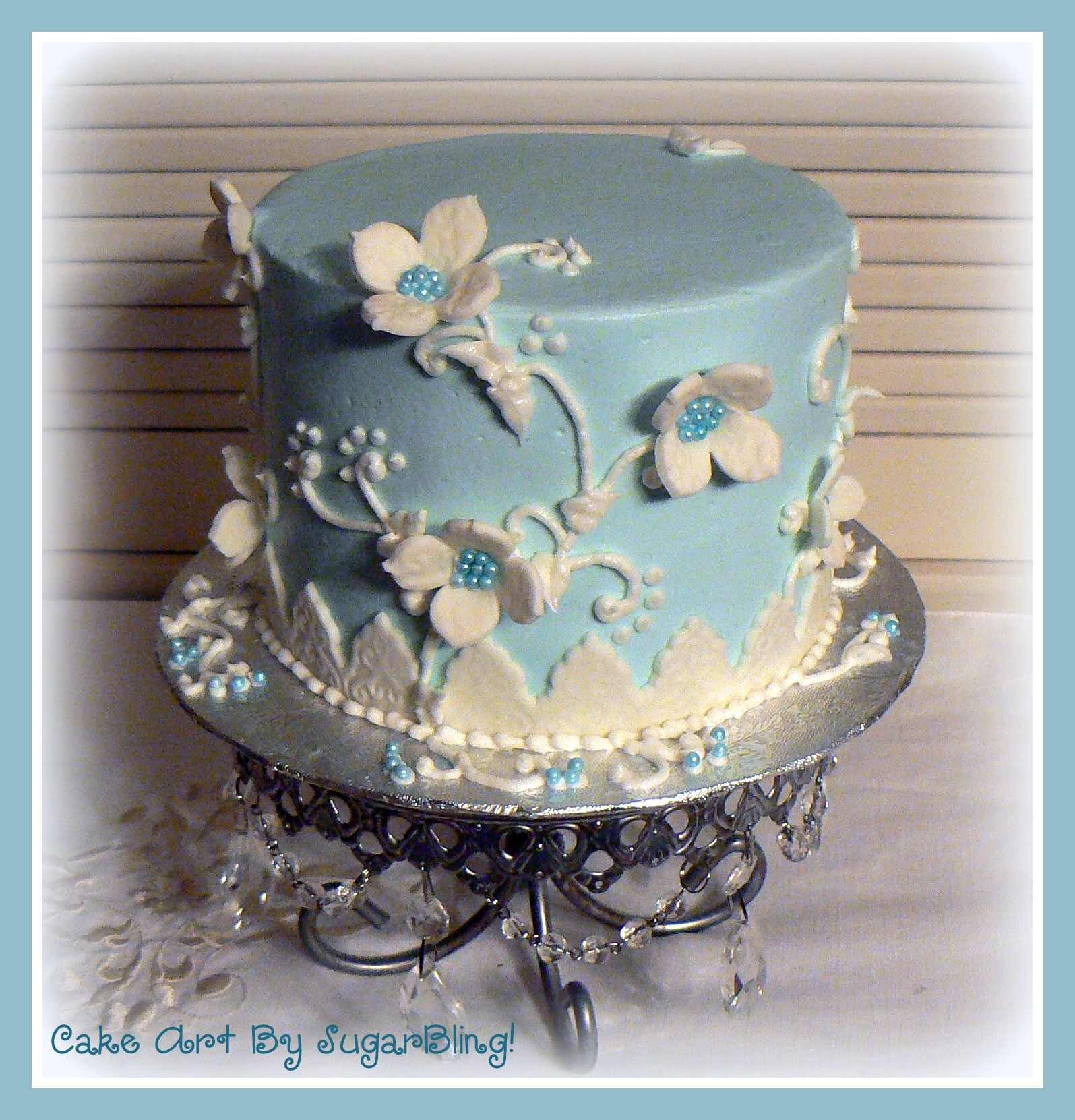 This cake was iced in buttercream and then decorated with fondant